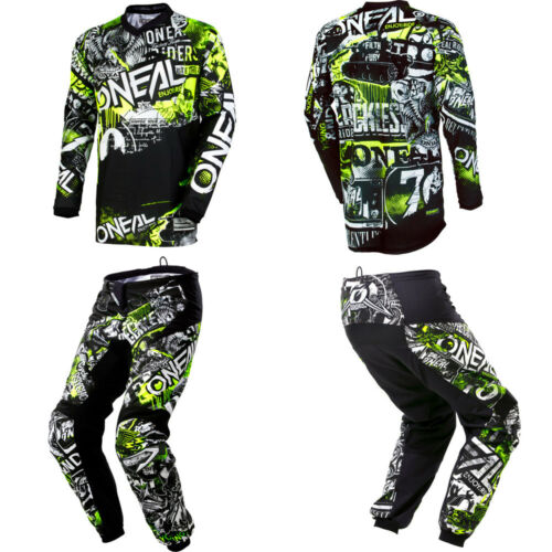 ONeal Element Attack Kids//Youth motocross dirtbike gear Jersey Pants combo set