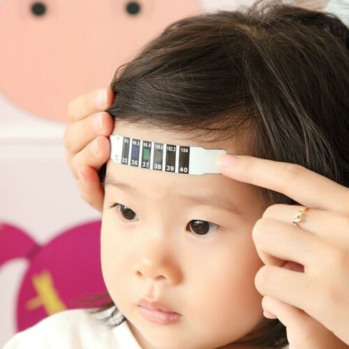 Pcs Kids Body Thermometer Head Temperature Forehead Strip Fever Test Tools