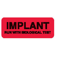 Implant Run With Biological Test Labels 2.25w X 0.875h Red 420 Roll on Sale