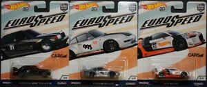 Hot-Wheels-Diecast-Euro-Speed-Mercedes-Benz-190E-Porsche-993-GT2-Audi-R8-LMS-NEW
