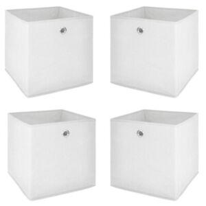 Faltbox 4er Set Flori 1 Korb Büro Regal Aufbewahrungsbox in weiß 32x32