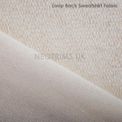 100/% algodón costilla que empareja Sudadera orgánica Tela Bucle /& bloqueo Jersey