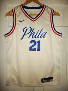 watch 4922b 1e893 Details about Youth Nike Joel Embiid #21 Philadelphia 76ers Cream Swingman  Jersey XL (18/20)