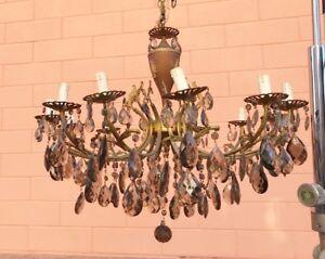 Lampadario Antico A Gocce : Antico lampadario maria antonietta con gocce luci ebay