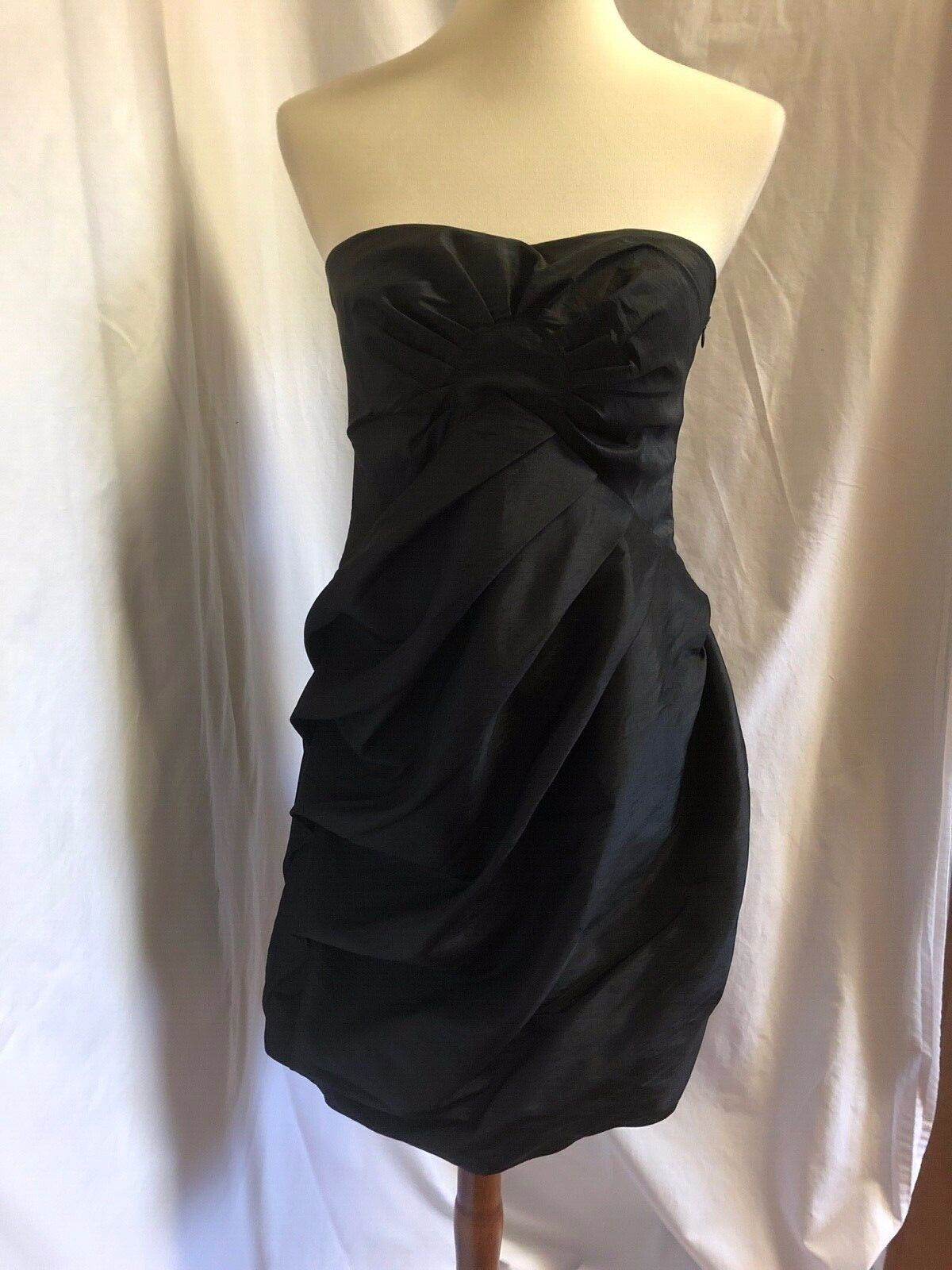 Romeo + Juliet Couture Strapless schwarz Formal Dress Größe Large (10-12) - EUC