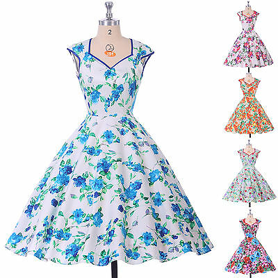 CHEAP 1950'S SWING PINUP PARTY RETRO VINTAGE STYLE WIGGLE PROM DRESS
