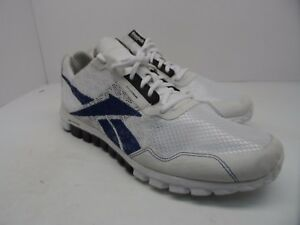 462caab36550 Reebok Men s Dual Compound Athletic Running Shoe White Blue Size 12M ...