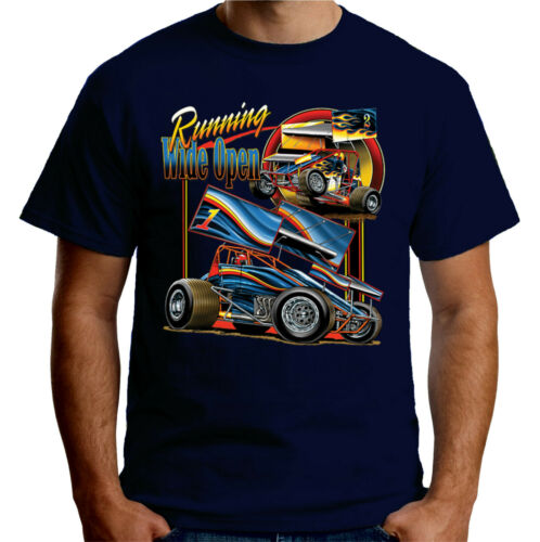 Velocitee T-shirt homme F1 Stock Car Racing Running Wide Open A22694