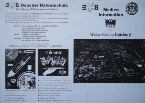 Medien Info 1997//98 MSV Duisburg Werder Bremen