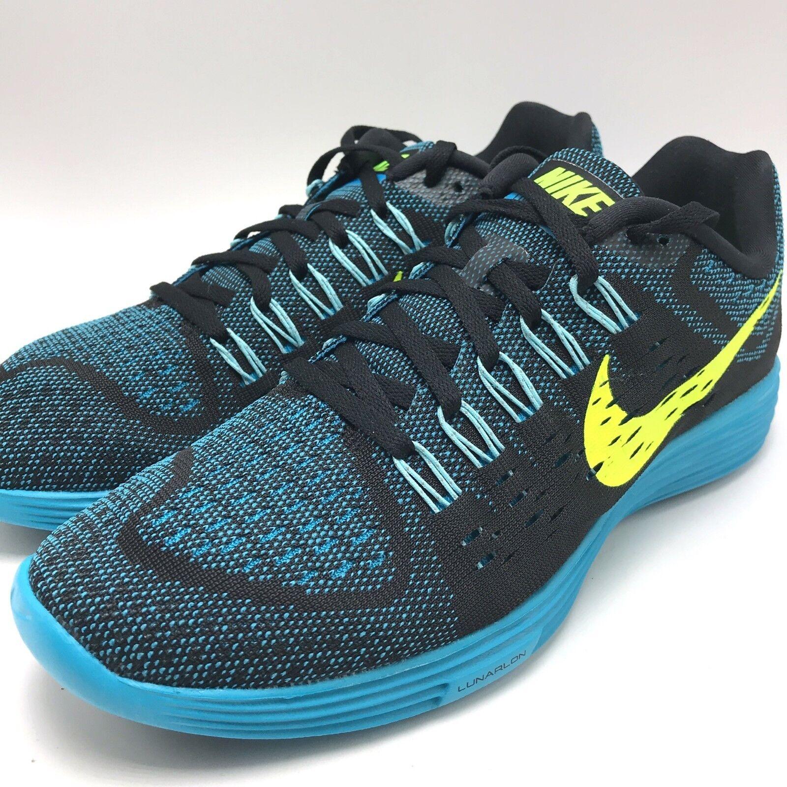 Nike lunartempo scarpe nero / volt laguna blu copa uomini scarpe lunartempo da corsa 705461-007 6abfa3
