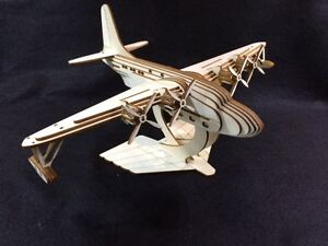 Details about Laser Cut Wooden Solent Sea Plane 3D Model/Puzzle Kit