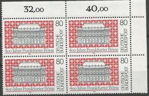 Federal-Frg-Minr-1257-Mint-Block-of-Four-Corner-2-Unfolded