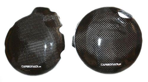 SUZUKI sv650 dl650 03-08 2x CARBON Lima Coperchio Coperchio Frizione Carbone CARBONO