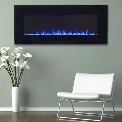 Remarkable Fake Fireplace Electric Flame Screen Wall Mount Heater Led Remote 36 Inch Large 700519079497 Ebay Interior Design Ideas Gentotryabchikinfo