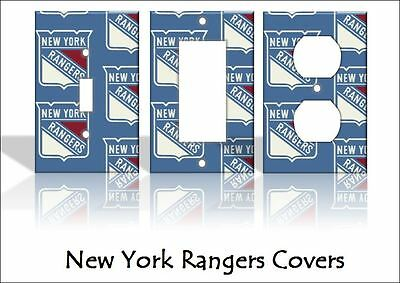 New York Rangers Light Switch Covers Hockey NHL Home Decor Outlet