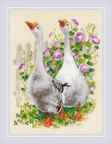 """Counted Cross Stitch Kit RIOLIS 1807 /""""Geese/"""""""