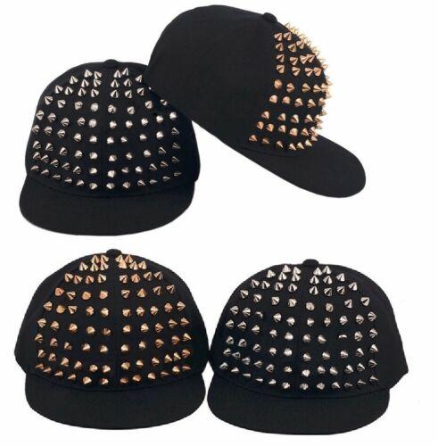 Punk Rock Hiphop Snapback Cap Street Dancing Hat Unisex Rivet Spike Baseball Cap
