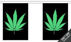 Cannabis 3 M Drapeau Bunting Party Garland Décoration Rasta Weed Festival