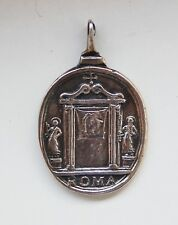 Antique Silver Medal Pendant  Baroque 17th Century Mandylion Holy Face Passion