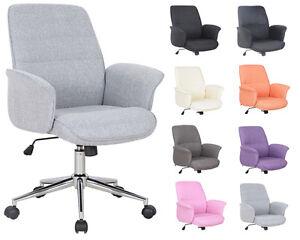 SixBros. Bürostuhl Drehstuhl Schreibtischstuhl Stoff Kunstleder Farbwahl0704M