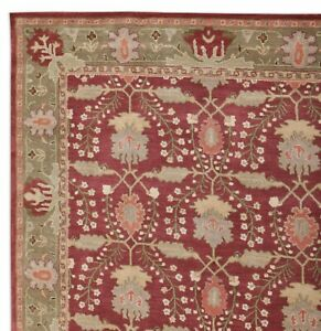 Old-Hand-Made-Traditional-Ziegler-Parsian-Oriental-Wool-Red-Area-Rugs-amp-Carpet