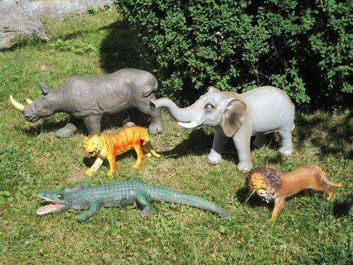 XXL Wildtiere 5er set Afrika Figur Knautsch Tiere