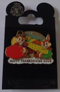 Disney-Cast-Exclusive-2009-Chip-and-Dale-Thanksgiving-2009-Pin-LE-1500