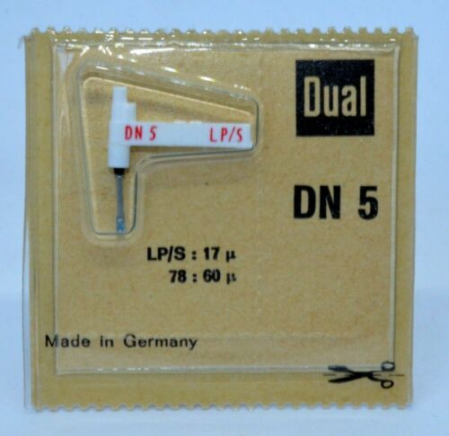 NEW OLD STOCK GENUINE DUAL DN 5 NEEDLE//STYLUS FACTORY SEALED MADE IN GERMANY
