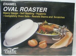 FALCON-ENAMEL-36CM-SELF-BASTING-OVAL-ROASTER