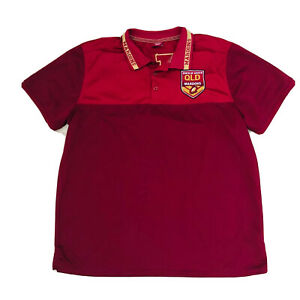 State-Of-Origion-Official-Supporter-Polo-Shirt-QLD-Queensland-Size-3XL-Maroons