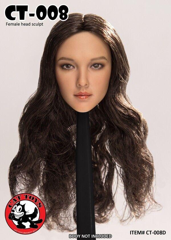 1 6 Cat Toys Beauty Asian Long Curly Hair Head Sculpt  CT008D F 12'' Figure