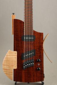 Oni Guitars Lump 2018 NAMM Model Electric Guitars w/Original Flight Case Natural