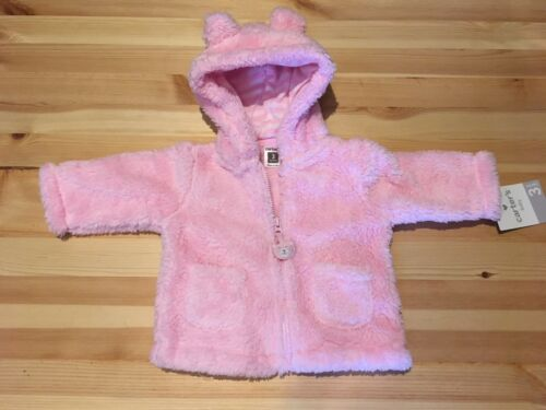 New w//Tags*Carter/'s Infant//Baby Girl Pink Sherpa Bear Pink Jacket*3M//Months