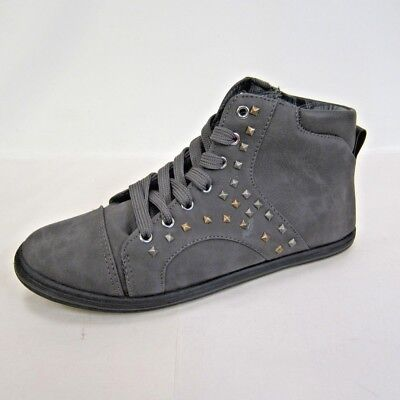 Great Price! Ladies Spot On White Hi-Top Trainers Studded Detail F8958