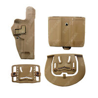 Tactical Right Waist Extended Belt Holster For Beretta 92 96 M9 W/magazine Pouch