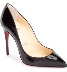 la meilleure attitude 30efc 11753 Détails sur Christian Louboutin Pigalle Chaussures Plates 36.5 Cuir Verni  Noir