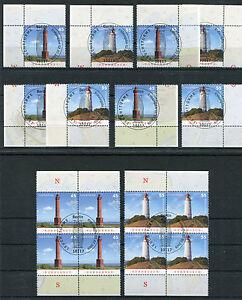 Bund-2742-2743-Eckrand-oder-Viererblock-gestempelt-Vollstempel-Leuchttuerme