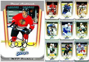 100-UD-MVP-2005-NHL-RC-ROOKIE-amp-SILVER-SCRIPT-AUTOGRAPH-LOT-U-PICK-FROM-LIST