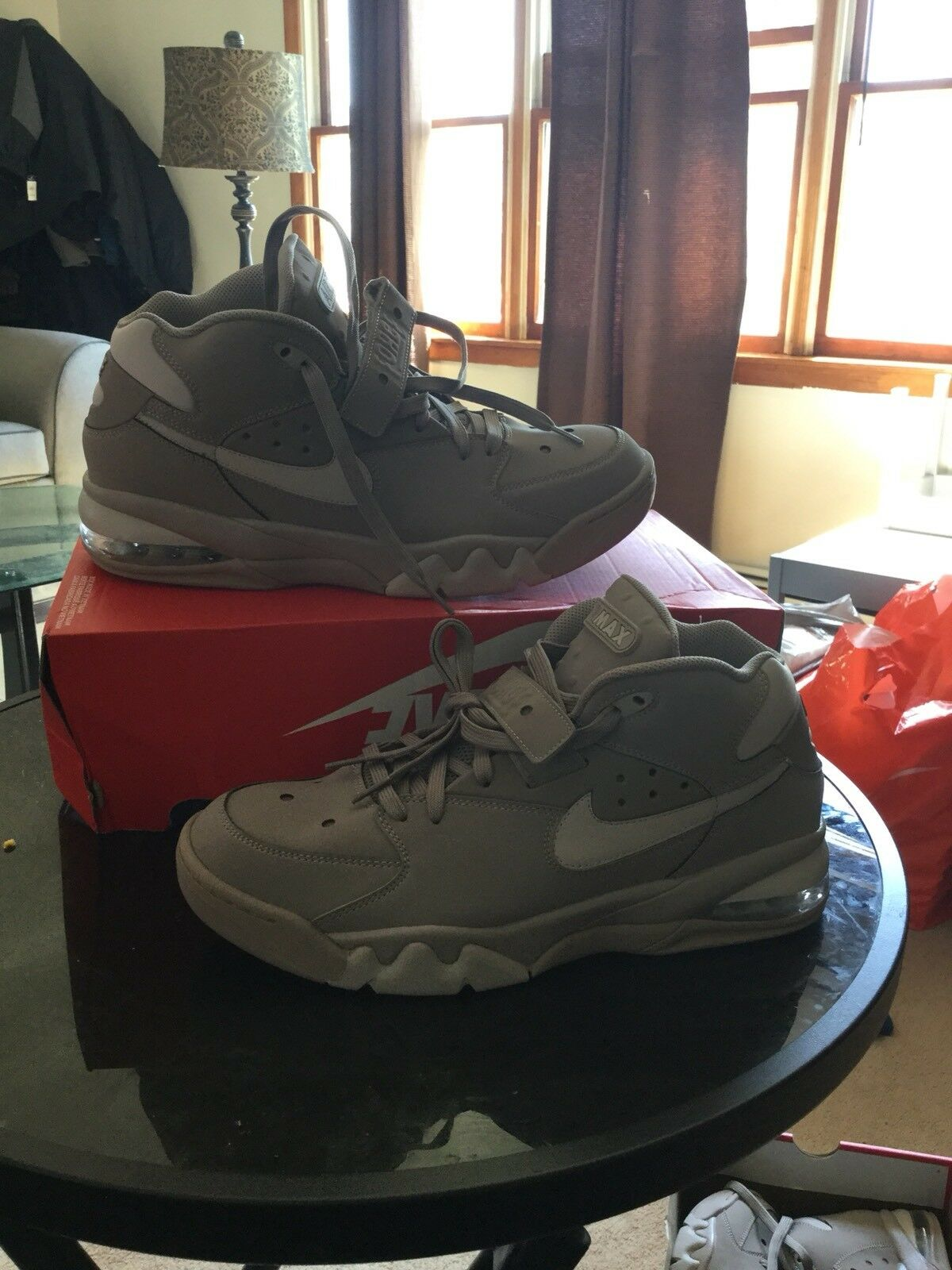 New Air Force max Men fashion sneakers size 9 color stone