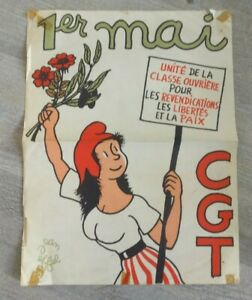 Poster-Jean-Effel-For-La-Cgt-1er-May-Poster-Political-1963