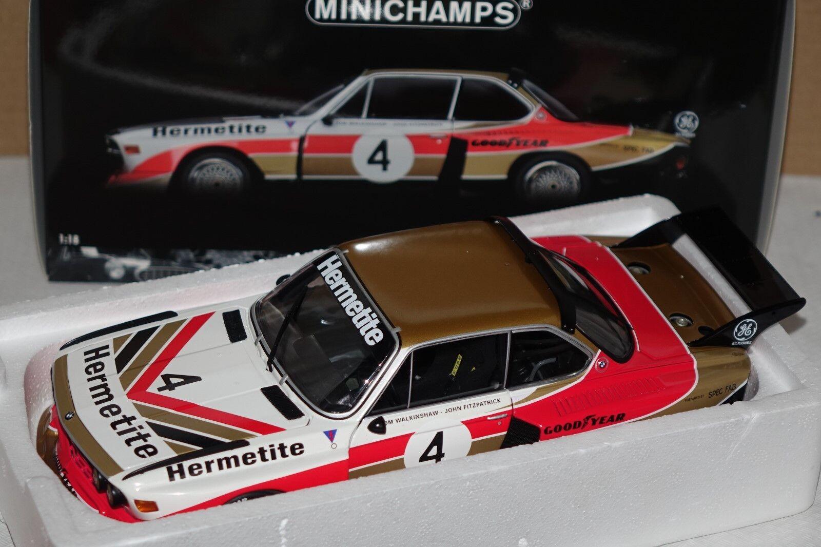 Bmw 3,5 CSL talla 5 winner 6h Platastone 1976 1 18 Minichamps 180762004 nuevo & OVP