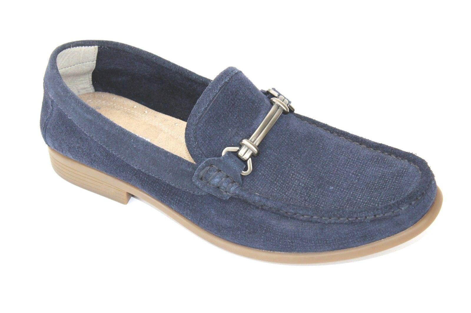 Stacy Adams Kelby Navy Toe blu Moccasin Moc Toe Navy Slip On Loafer