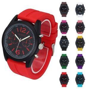 Geneva-Women-Men-039-s-Sport-Watch-Fashion-Unisex-Silicone-Analog-Quartz-Wrist-Watch