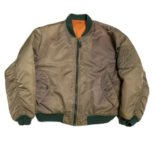 Vintage Alpha Industries Bomber Jacket Mens S reve