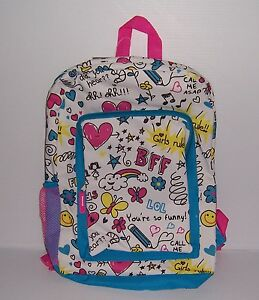 FAB-GIRL-TALK-PRINT-BACKPACK-16-034-GIRLS-SCHOOL-BACKPACK-NWT