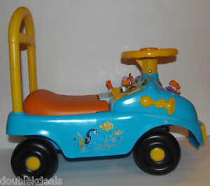 Image is loading DISNEY-FINDING-NEMO-RARE-RIDE-ON-CAR-TOY- & DISNEY FINDING NEMO RARE RIDE ON CAR/ TOY MUSICAL FEATURES + BACK ...