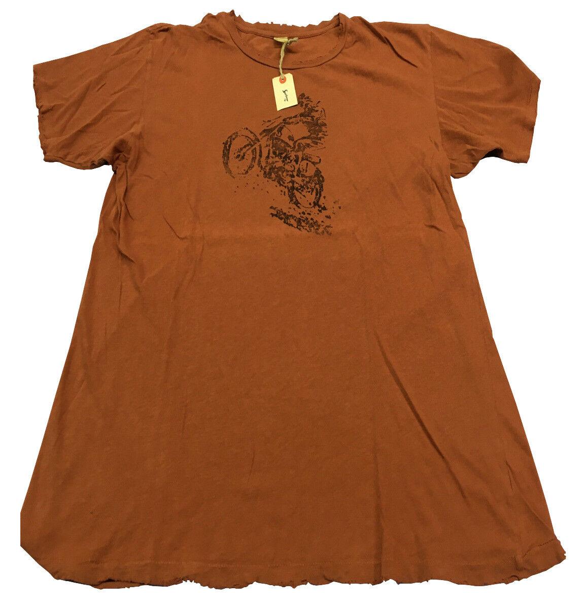 SPORTSWEAR T-Shirt Kurze Ärmel Rost mit tragen Baumwolle hergestellt in den USA