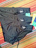 Speedo Men's Black Swimsuit Bikini - Front Black Liner - Size Us30 /