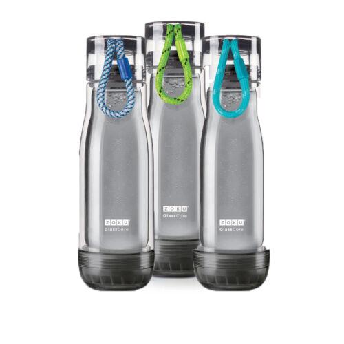 475 ml ml double paroi en verre core Bouteille Active Outdoor Eau Hydratation environ 453.58 g Zoku 16 oz