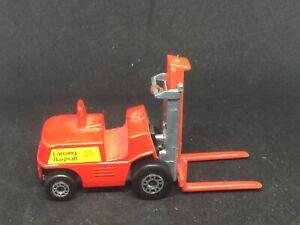 Matchbox-15-B13-Fork-Lift-Truck-w-HTF-Long-Red-Forks-amp-Unpainted-Base